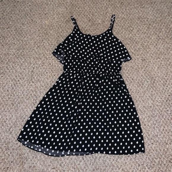 Elle Dresses & Skirts - Black and White Polka Dot Dress